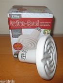 CERAMIC DULL EMITTER INFRARED HEAT LAMP / BULB 150W - BIRD - REPTILE - INTELEC